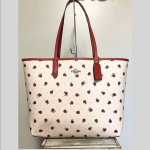 🐞 Coach Reversible City Tote With Ladybug NWT